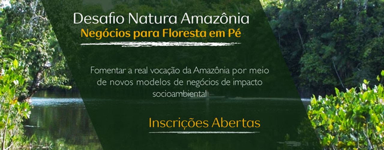 "Poster of the ""Floresta em Pé"" initiative of the Brazilian company Natura"